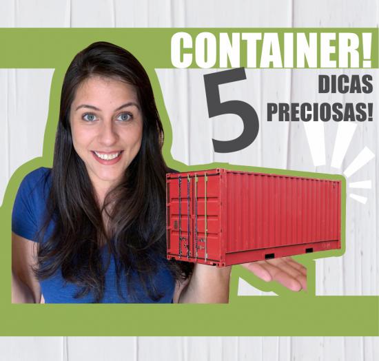 dicas para casa container